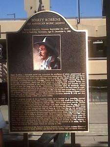 Marty Robbins Murphy Park Plaque