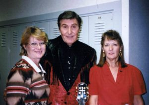 Billy Walker with Kayo and me, backstage at the Opry in 2000.